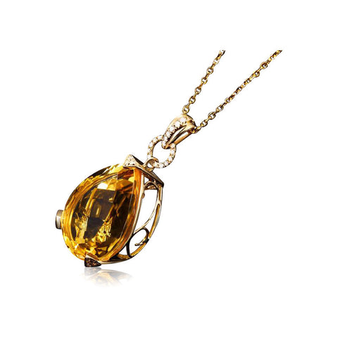 Image of Hecate Citrine Pendant 18k Gold
