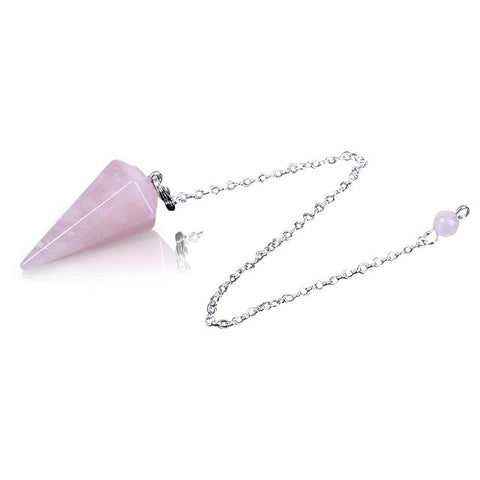 Rose Quartz Healing Crystal Divination Dowsing Pendulum