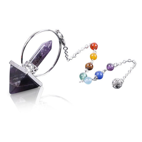 Image of Crystal Moon Divination Dowsing Pendulum