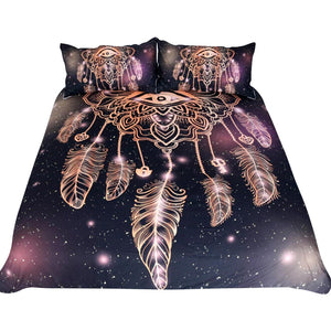 Eye of Horus Dreamcatcher Duvet Set - 3 Piece