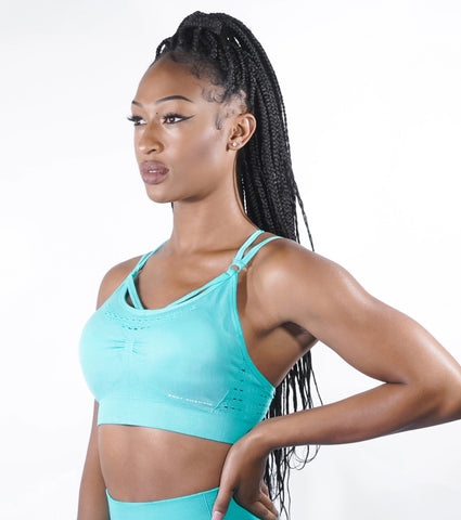Fearless Seamless Sports Bra - Tiffany Teal