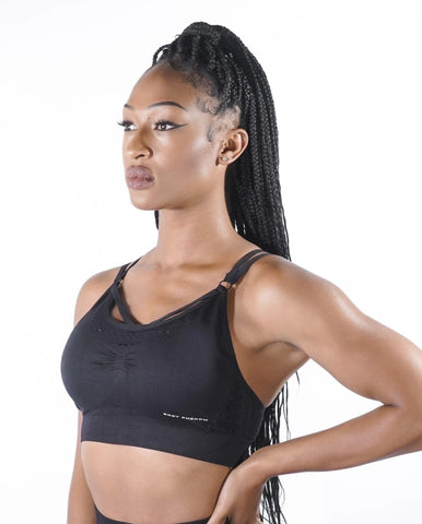 Fearless Seamless Sports Bra - Black