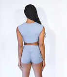 Forward Tee and Shorts Set - Soft Blue