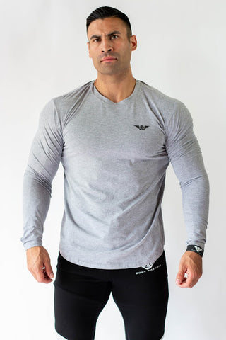 Phenom Long Sleeve - HEATHER GRAY