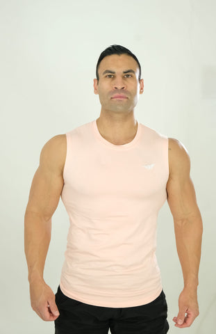 Sleeveless Tee Light Peach