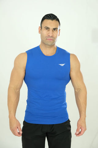 Sleeveless Tee Royal Blue