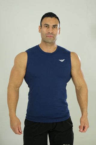 Sleeveless Tee Navy