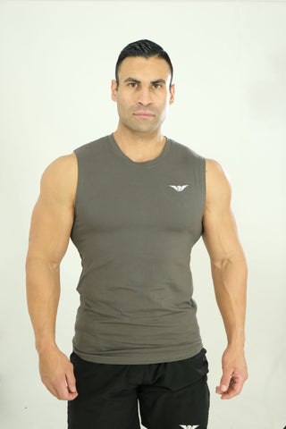 Sleeveless Tee Dark Grey