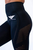 Victory Seamless Eyelet Leggings - Black