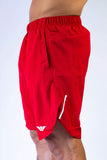 Men's Active Lined Shorts - Red
