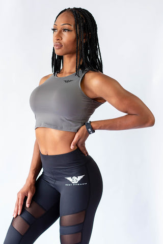 Phenom Crop Top - GRAY