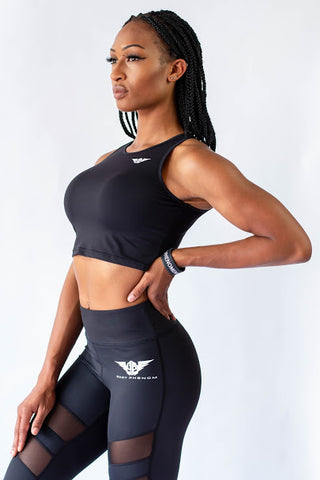 Phenom Crop Tops - BLACK