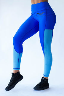 Phenom Two Toned Leggings - BLUE