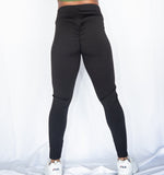 Simple Scrunch Leggings-Black