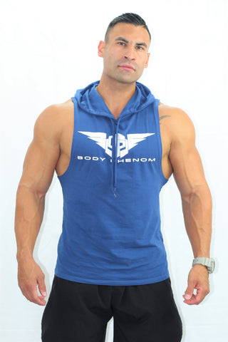 Legend Sleeveless Hoodie Blue