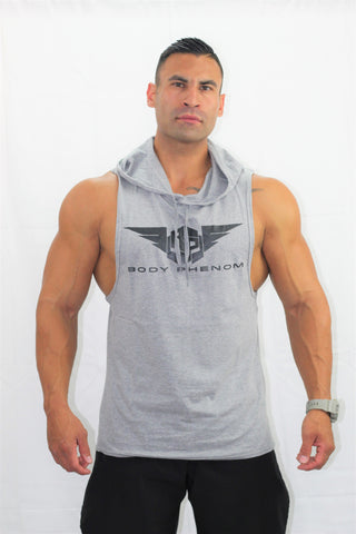 Legend Sleeveless Hoodie Gray