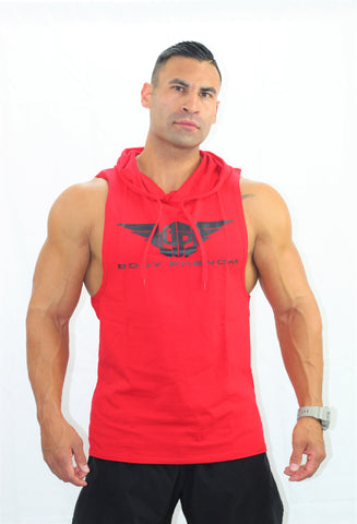 Legend Sleeveless Hoodie Red