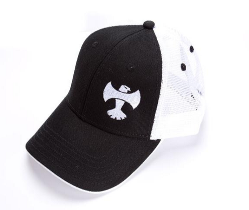 Axe Eagle Black and White Hat