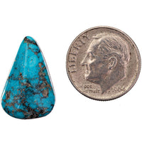 ITHACA PEAK Natural Turquoise Cabochon Cab Black Spiderweb For RING  10.10ct