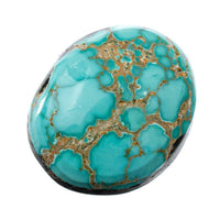 CARICO LAKE TURQUOISE Cabochon Cab Natural BLUE WEB Spiderweb 6.95CT Gem