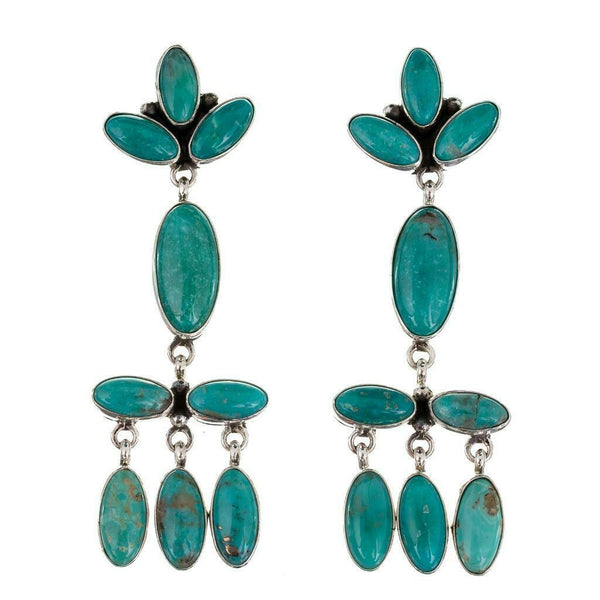 C. Wylie Navajo Turquoise Chandelier Earrings
