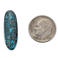 A+ BLACK WEB KINGMAN Natural Spiderweb Turquoise Cabochon Cab For Ring Cuff 11.2