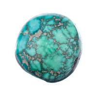 A+ CARICO LAKE TURQUOISE Cabochon Cab Natural BLUE WEB Spiderweb 11.3CT Gem