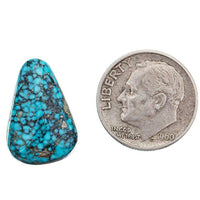 A+ BLACK WEB KINGMAN Natural Spiderweb Turquoise Cabochon Cab Nt Lander Blue 8.7