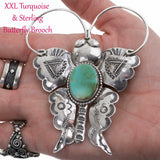 Squash Blossom Necklace Pendant BUTTERFLY Brooch Joe Eby XXL HUGE Big SHOW