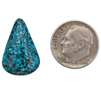 A+ BLACK WEB KINGMAN Natural Spiderweb Turquoise Cabochon Cab Nt Lander Blue 11.