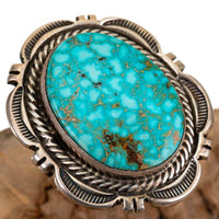 Navajo Turquoise Ring Sterling Silver Natural Indian Mt.  CECIL ATENCIO 9.75