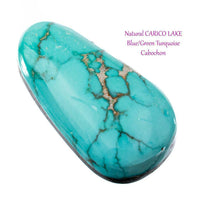 CARICO LAKE TURQUOISE Cabochon Cab Natural BLUE WEB Spiderweb 21.15CT Gem