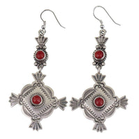 Michael Calladitto Squash Blossom Coral Earrings