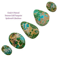 NATURAL SONORAN GOLD Cabochon Cab Green Spiderweb 30CT Gem LOT Bracelet or Ring