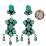 J. Etsitty Turquoise Chandelier Earrings