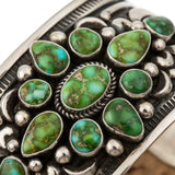 A+ Native American Turquoise Bracelet SONORAN GOLD Sterling Silver ALBERT JAKE S