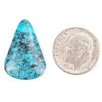 Turquoise Cabochon Cab ITHACA PEAK KINGMAN Natural Spiderweb Not Lander Blue 11