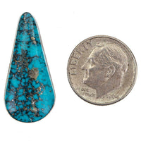 Turquoise Cabochon Cab ITHACA PEAK KINGMAN Natural Spiderweb Not Lander Blue 10c