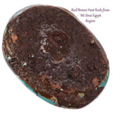 EGYPTIAN TURQUOISE Cabochon Cab ANCIENT Natural Gem NOT Lavender Pit BISBEE 60ct