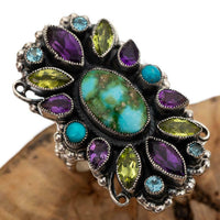 "LEO FEENEY Turquoise Ring ""TWILIGHT WATERS"" Sterling Silver SONORAN GOLD 9.75"