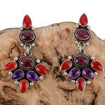 Diane Wylie Squash Blossom Coral and Spiny Oyster Earrings