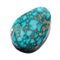 A+ CARICO LAKE TURQUOISE Cabochon Cab Natural BLUE WEB Spiderweb 7.75CT Gem