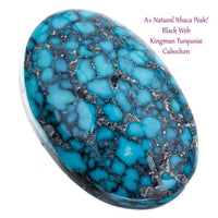 A+ ITHACA PEAK Kingman Turquoise Cabochon Cab Natural 6.7 Not Lone Mountain Gem