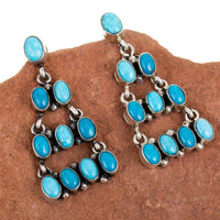 P. Johnson Turquoise Chandelier Earrings