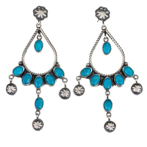 Sheila Tsosie Navajo Turquoise Earrings