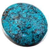 ITHACA PEAK Natural Turquoise Cabochon Cab Black Spiderweb For Bracelet 13.70
