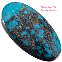 ITHACA PEAK Natural Turquoise Cabochon Cab Natural Spiderweb For Bracelet 13.35