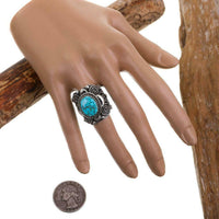 Delbert Gordon Waterweb Kingman Turquoise Ring Size 6 1/2