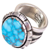 Cooper Willie Natural Kingman Turquoise Ring Size 10 1/2
