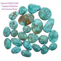 CARICO LAKE TURQUOISE Cabochon Cab Natural BLUE WEB Spiderweb 12.85CT Gem